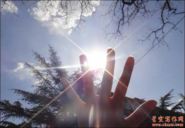 等阳光,信步而来