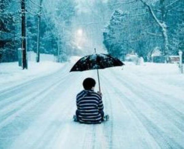 独自一人看雪